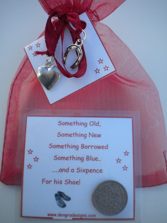 Silver Sixpence In HIS SHOE  Good Luck Gift For Groom Burgundy