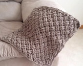 Crochet Pattern for Diagonal Weave Blanket - Any Size - Welcome to sell finished items