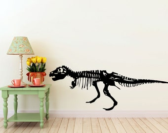 large T-Rex Dinosaur vinyl Wall DECAL- museum interior design, sticker art, room, home and business decor