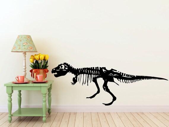 large T-Rex Dinosaur vinyl Wall DECAL- museum interior design, sticker art, room, home and business decor