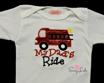 Popular items for firefighter baby boy on Etsy