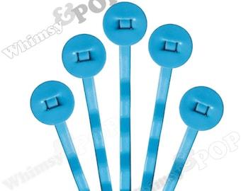 25 PACK - Bobby Pins, Sky Blue Bobby Pin Blanks, Painted Bobby Pins, Color Bobby Pins, Bobbie Pins, 50mm wide,  8mm Glue Pad (R7-155)
