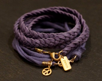 Lavender Fields/Warrior Wrap/bracelet/necklace