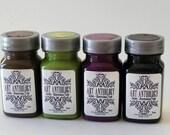 GEL Paint, Sorbet/Gelate, Dimensional Gel Paint by  Art-Anthology, Vegas Gold, Red Velvet, Veridian Green, Dazzle