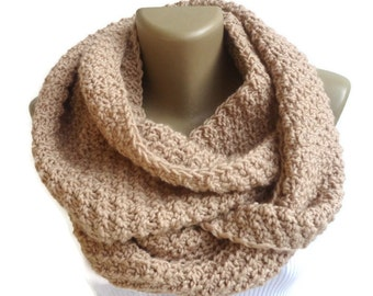 ON SALE // Chunky Scarf Women Knit Infinity Scarf Men Chunky Cowl Scarf Winter Scarf Winter Accessories Valentines Day Gifts senoaccessory