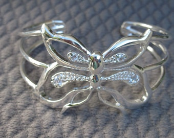Large Version of the Imaginary Sterling Silver Butterfly Cuff