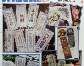 Leisure Arts BOOKMARKS GALORE 66 Designs (Multiple Designs)  - Counted Cross Stitch Pattern Chart Booklet