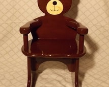 Popular Items For Bear Rocking Chair On Etsy