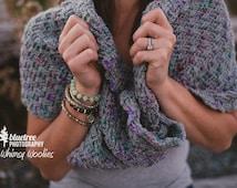 Crochet Shawl Pattern: 'Twisted Infinity Shawl' , Crochet shawl, Mobius Shawl
