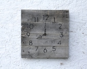 Rustic, natural Gray Wood reclaimed wood clock.  Farmhouse style...gift.  Custom pallet wood clock