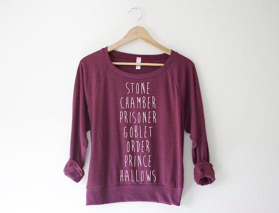 Harry Potter Book Title Pullover | Harry Potter Gift Guide