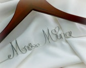 Personalized Wedding Hanger, Bridal Gown, Dress Accessories, Gift Wrapped