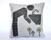 Handmade art&craft needlepoint Pictogram Pillow home decor