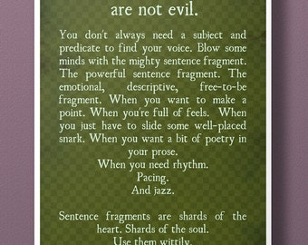 Sentence Fragments Aren't Evil - 11x17