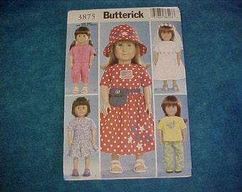Butterick 3875 American Girl Pattern.