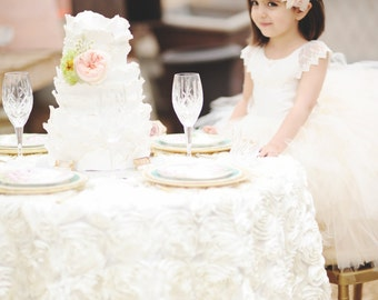 flower girl dress, vintage flower girl tutu dress, custom ivory lace tutu dress