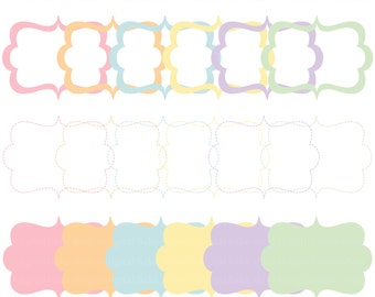 digital frames decorative scalloped clip art clipart - Easter Decorative Frames