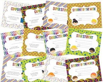 printable school student awards certificates class classroom digital - Student Awards Printable