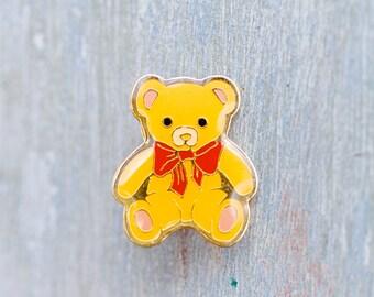 Yellow Teddy Bear Badge - Cute Lapel Pin