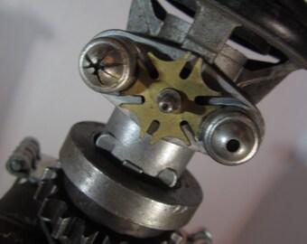 PD Respirator Bot - found object robot sculpture assemblage by Cheri Kudja with Bitti Bots