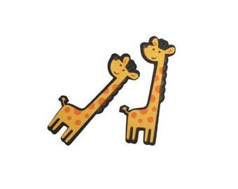 Giraffe die cuts - 4 dies (3 in.) - You choose your colors (C6)