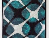 Modern Wall Art Quilt -Free Shipping