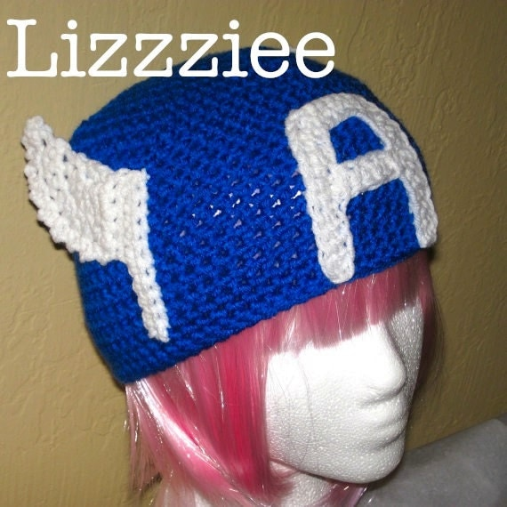 Captain America Avengers crochet hat pattern PDF - DIY superhero dress-up - instructions beanie earflap braids - Instant Digital Download