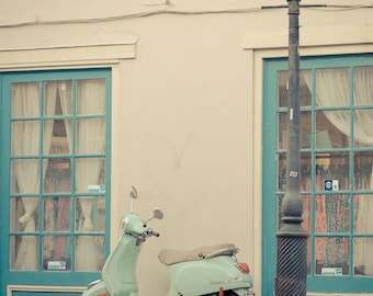 Vespa on Chartres, New Orleans, Louisiana, French Quarter, Public Transit Photography