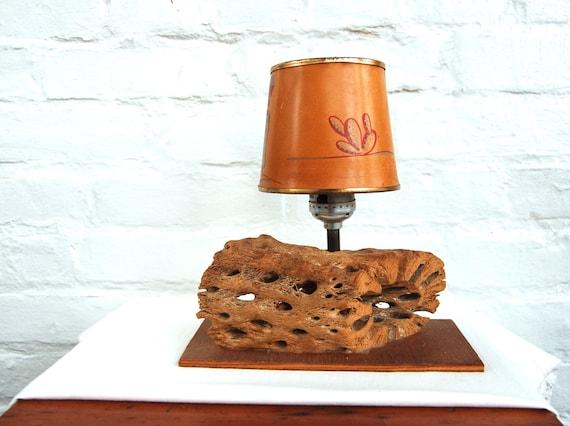 Vintage Western Lamp Desk Table Lamp 1950s Southwestern Cactus
