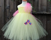 Fluttershy My Little Pony - Designer Halloween Costume - Lemon yellow dress - Light yellow My little pony - fluttershy cosplay
