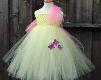 Fluttershy My Little Pony - Designer Costume - Lemon yellow dress - Light yellow My little pony - fluttershy cosplay