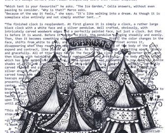 The Night Circus on Book Quotes Print