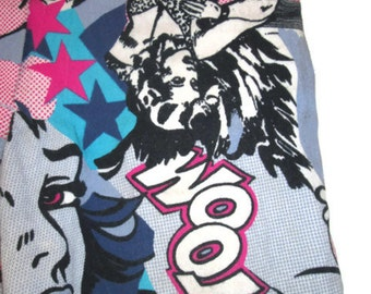 1990s vintage comic book pop art jeggings stretch jeans pants size extra small xs