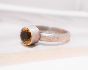 Glitz Ring in Citrine and Sterling Silver