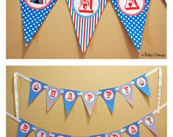 Circus Birthday Banner, Instant Download, Printable, Digital