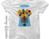 Gum ball Iron on Transfer - Iron on Candy Shirt PDF / Gumball Machine Party Favors / Kids Candy Birthday Outfit / Sweet Shoppe Shirt IT363