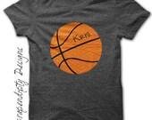 Basketball Iron on Transfer - Iron on Sports Shirt PDF / Boys Customized Basketball Shirt / Sports Wall Decor / Baby Sports Outfit IT334