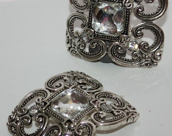 Rhinestone Focal Slider decorative Bead 2