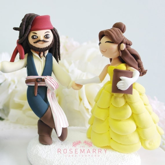 Beauty and the Beast Wedding Cake Toppers