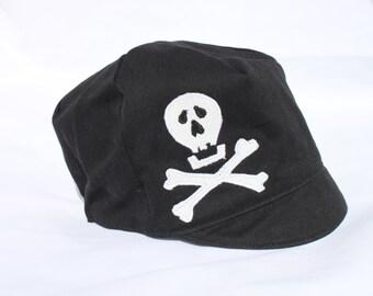 SALE*** Boys Pirate Hat, Skull Hat, Black Toddler Hat, Pirate Hat,  Pinstripes - Toddler - M