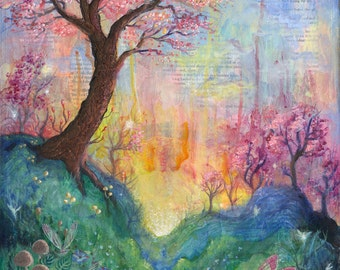 The Dreaming Tree, a fairy tree, landscape print