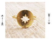 Original Compass Ring. Delicate Ring.