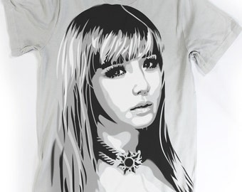 Park Bom - 2NE1 TShirt -  Hand airbrushed with stencils - KPOP Unisex Tee