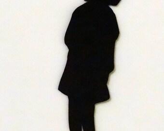 Vintage Boy Silhouette Die Cut for Scrapbooking or Cardmaking