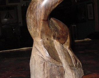 Original 1970's Creation~ Hand Carved Ironwood Seal Statue