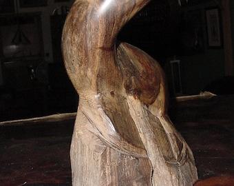 Beach Cottage Ocean Original 1970's Creation~ Hand Carved Ironwood Seal Statue Figurine Animal