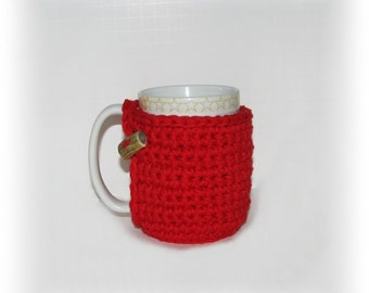 Deer Red Cozy for your mug or cup - Coffee - Tea - Cocoa