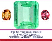 The IDENTIFICATION GUIDE Of GEMSTONES Rare Gems Book 419 Pages Printable or Read on Your iPad or Tablet Instant Download