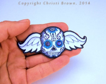 Sugar Skull Angel Baby Car Window Sticker Vinyl Decal Day of the Dead add to family set