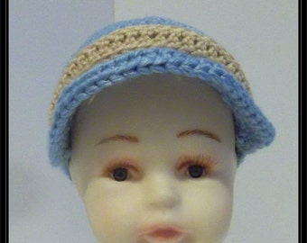 Crocheted Newsboy Hat!